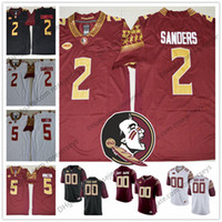 Wholesale brook s - Florida State Seminoles #2 Deion Sanders 10 Derrick Brooks 25 Fred Biletnikoff Red White Black College Football Stitched NCAA Jerseys S-3XL