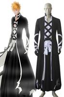 Wholesale bleach ichigo full cosplay online - Bleach Ichigo Kurosaki New Bankai Look Cosplay Costumes