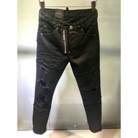 5428bda872812 water washing Ripped Jeans Men Holes Denim Super Skinny Men s Casual Stretch  Jeans Trousers Slim Fit Scratched Pants More style