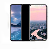 Wholesale Android Supports Screens - Goophone X Real Face ID 5.5 Inch Support Wireless charge Smartphone Quad Core 1G+8GB 16GB MobilePhone 4g unlocked With Headphones Cellphone