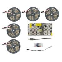 kit de cinta de color al por mayor-5050 60leds / m LED RGB Lámpara de luz de tira WS2811 IC Cinta de cinta flexible de color de sueño 5m 10m 15m 20m 25m Kit impermeable IP67 IP20 para construcción