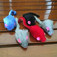 Wholesale squeaking toy for sale - Group buy Cat Toy Mice Mouse Cat Toys Squeak mouse Toys multicolor Colors Cat Toys Pet toy T2I304