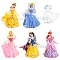 Wholesale snow white dolls wholesale - Princess Dolls Set of 5 Figures Little Mermaid Ariel Snow White Cinderella Belle Sleeping Beauty Wear Off Cloak Girls Toys Gifts