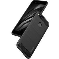 xiaomi tpu davası toptan satış-IPaky Vaka Xiaomi 5X Için Fırçalanmış TPU Arka Kapak Drop-proof Darbeye Dayanıklı Sağlam Zırh Kılıfları Perakende Paketi Ile Stokta