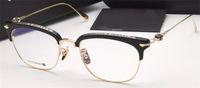brillenglas titan großhandel-neue Logo Brille Chrom-H Brille SLUNT Rezept Männer Augen Rahmen Marke Designer Brille Brille Vintage-Rahmen Steampunk-Stil
