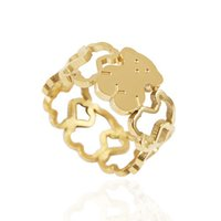 Wholesale Bear Good - TL stainless steel bear ring gold plated good quality fast shipping for girl and lady brand jewelry
