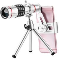 teleobjetivo de cámara freeshipping al por mayor-Freeshipping Celular Cámara Kit de lentes de la cámara Universal 18X Zoom óptico Teleobjetivo Telescopio Len con aleación de aluminio Tri