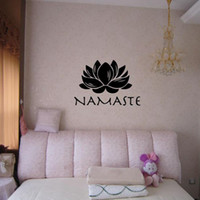 Wholesale namaste wall decal sticker Lotus Yoga Art Wall decoration