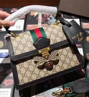 726697c64456 2018 весна новая корейская мода скинули Дикий натуральная кожа ретро полосы женская  сумка для женщин сумка
