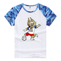 Wholesale necklace for men s - World Cup Lover T-shirts Mens Womens Short-sleeved Couple Shirts Loose Cotton Round Necklaces For Football Fans