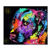 Wholesale Picture Canvas Sizes - Home Decor Calligraphy Large size Print Oil Painting Wall Gratitude Pitbull Home Decorative Wall Art Picture For Living Room paintng