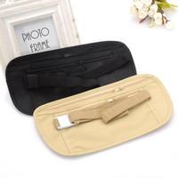 Wholesale security waist pouch - Travel Pouch Hidden Zippered Waist Compact Security Money running   sport Waist Belt Bag Running Bags Outdoor Bags