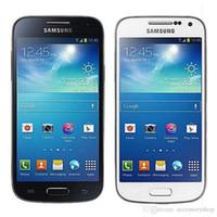 Wholesale galaxy s4 dual - Refurbished Original Samsung Galaxy S4 Mini i9195 4G LTE 4.3 inch Dual Core 1.5GB RAM 8GB ROM 8MP Unlocked Android Smart Phone Free DHL 1pcs