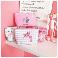 Wholesale pink panther toys for sale - New Fashion Cartoon Pink Pig Flamingo Panther Makeup Travel Storage Bags Toy Party Supplies Festive Favors Girl Women Gift
