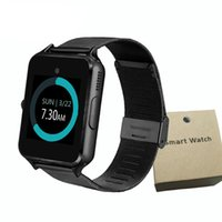 Wholesale gps steel resale online - Bluetooth Smart Watch Z60 Smart Watch Stainless Steel Wireless Smart Watches Support TF SIM Card For Android IOS With Retail Package