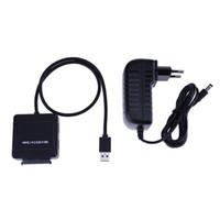 ssd kartları toptan satış-3 in 1 USB3.0 Hub Splitter 2 Port / TF SD Kart Okuyucu USB3.0 sata Sabit Disk sabit disk Kablo için 2.5 / 3.5 HDD SSD Çok Hab ...