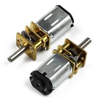 mini micro moteur électrique achat en gros de-1pc N20 30/600/1000 / 1200RPM DC3 / 6 / 12V Micro DC Motoréducteur Puissant Motoréducteur De Décélération Électrique