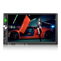 Wholesale Hd Car Radio Stereo - 7023D 2Din 7'' HD 1024*600 Bluetooth Car Radio MP5 Player with Card Reader Radio Tuner support Camera Car Stereo MP5 Player