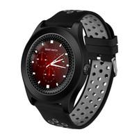 equipo de seguimiento al por mayor-Rastreador de ejercicios de apoyo SmartWatch TF8 una tarjeta SIM 2G / TF tarjeta de deporte los hombres del reloj inteligentes para Huawei Lenovo engranajes s3