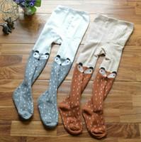 Wholesale legging hosiery resale online - Kids Tights Baby Unisex Legging cute baby kids girls cotton fox tights socks stockings pants hosiery pantyhose