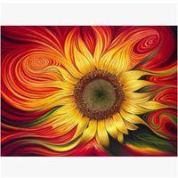 diy elmas boyama çapraz dikiş çiçekler toptan satış-Nakış 5D Elmas Resimleri Diy Tam Kiti Çapraz Dikiş Kristal Güneş Çiçek Desen Boyama Moda Ev Dekor Duvar Sanatı 49 8yt5 jj