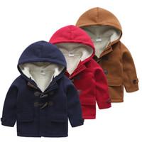ingrosso cappotti di vestito invernale del bambino-2018 Baby Button Coat Winter Dress Corea Nuovi bambini per bambini Wear Plus Down Coat addensato Ragazze Cappotti Little Girls Clothing