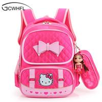Wholesale School Bags Girls Princess - Hello Kitty School Backpacks For Children Nylon Girls Princess School Bag Waterproof Kids Satchel Girl Schoolbag mochila escolar