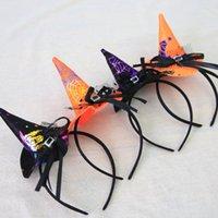 ingrosso streghe cappello fascia-Moda per bambini a strisce Accessori di Halloween Puntelli per feste di Halloween Cappelli di strega Cappelli Copricapo Fascia da strega Cerchietto da strega