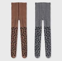Wholesale leggings leopard children for sale - Group buy INS Kids pantyhose autumn new girls leopard grain pattern tights baby soft cotton PP bottoms fashion children princess leggings F0451