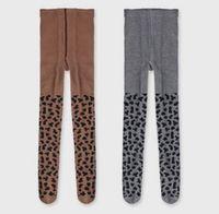 medias de princesa leggings al por mayor-INS niños pantimedias otoño nuevas niñas leopardo grano patrón medias bebé algodón suave PP fondos moda niños princesa leggings F0451