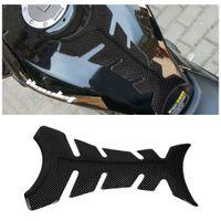 motocicleta tanque protetores fibra de carbono venda por atacado-10 pçs / lote 3d motocicleta fishbones adesivo tanque de fibra de carbono pad tankpad protetor etiqueta para motocicleta universal