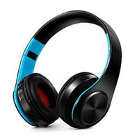 auricular bluetooth para tabletas al por mayor-V4.0 Auriculares Bluetooth Auriculares inalámbricos plegables con control de voz Auriculares de control de voz para teléfonos inteligentes Tabletas