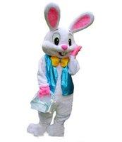 mascotte de costume de lapin de pâques gratuit achat en gros de-2018 Haute Qualité Professionnel Lapin De Pâques Mascotte Costumes Lapin Adulte Livraison Gratuite