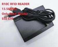 lectores de tarjetas de proximidad al por mayor-R10C lector de RFID 13.56 MHZ solo lector de lectura para S50 S70 lector de tarjetas de proximidad sin contacto envío gratis