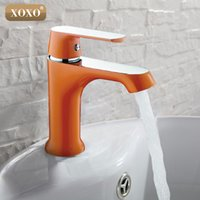 Wholesale Thermostatic Bath Faucet - XOXO Innovative Fashion Style Home Multi-color Bath Basin Faucet Cold and Hot Water Taps Green Orange White 20015W20025R 20035GR