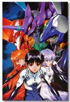 Wholesale neon genesis evangelion figures resale online - Neon Genesis Evangelion EVE Ayanami Asuka Japan Anime Art Silk Poster x30 x36 x43