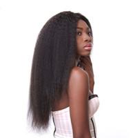 yaki peluca de encaje remy recta al por mayor-Pre desplumados peruana peluca del pelo humano del cordón de Yaki recta principal pelucas pelucas llenas del cordón de las mujeres no Remy Cabello Ping