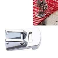 sewing machine foot feet accessory Canada - Sliver Rolled Hem Curling Presser Foot For Sewing Machine Singer Janome Sewing Accessories Hot Sale 1Pcs