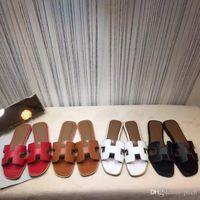 ingrosso scarpe da donna di fascia alta-2018 Nuovo sandalo francese femminile high-end pantofole donna moda cuoio suola pantofole in pelle scarpe da donna di fascia bassa di fascia alta