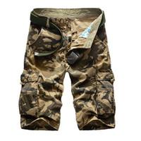 shorts chineses magros venda por atacado-Hot Sale 2018 dos homens camuflagem Shorts Homens Plus Size Millitary Mens Exército shorts soltos Casual Homens de carga Homme