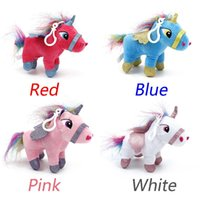 Wholesale stuffed animals for babies - New cm Anime Unicorn Stuffed Animal Dolls Cartoon Unicorn Plush Toy Keychain For Kid Children Baby Toy Birthday Christmas Gift kids toys