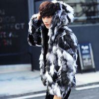 Wholesale imitation fur coats - The Winter new men's thick large size imitation fur coat
