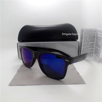 Wholesale big coats for men - Fashion High Quality Sunglasses For Men Women Big Frame Vintage 52MM Eyewear UV400 Shade Coating Sun Glasses Retro With Case Box