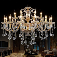 luz do corredor venda por atacado-Lustres de Cristal moderna Casa Iluminação lustres de cristal Decoração de Luxo Vela Pingente Lustres Sala de estar Lâmpada Interior