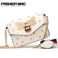 Wholesale red pink bags little for sale - Fashion Women Messenger Bag New Brand Leather Female Shoulder Bag Luxury Diamond Little Bee Woman Handbags Strap Bags