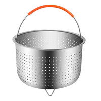 Wholesale ironing steamer for sale - Group buy Stainless Steel Rice Cooker Steamed Basket Pressure Cookers Ironing Steamer Multi Function Fruit Cleaning Baskets cy gg