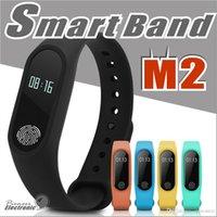 oled watch ekranı toptan satış-Bluetooth Akıllı M2 Spor Izci Izle Monitör Su Geçirmez Etkinlik Tracker Akıllı Bilezik Pedometre Çağrı OLED Ekran Ile Sağlık Hatırlatmak