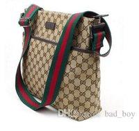Wholesale Mens Crossbody Bags - Luxury Brand Mens Shoulder Bags Famous Handbags Women Messenge Bags Designer Female Vintage Satchel Bag Canvas Crossbody Shoulder Bags black