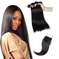 Wholesale brazilian human hair cheap prices for sale - Cheap A Brazilian Hair Straight Hair Extensions Bundles With x4 Lace Closure Human Hair Weave Price