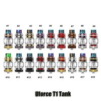 Wholesale punk tops - 100% Original VOOPOO Uforce T1 Atomizer 8ml Top Filling Steam Punk Bubble Glass Tube Sub Ohm Tank For 510 Thread Mod